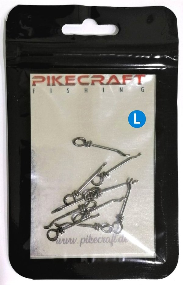 Pikecraft Bait Pin Stinger Spikes -SAVE-  L   Edelstahl Black